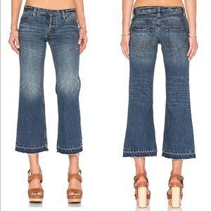 Free people Chelsea crop kick-flare jeans